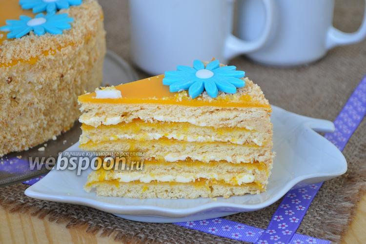 Фото Песочный апельсиновый торт