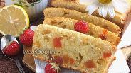 Фото рецепта Творожный кекс с шафраном и цукатами
