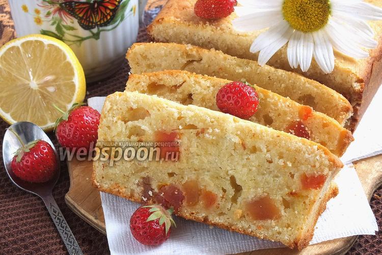 Фото Творожный кекс с шафраном и цукатами