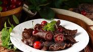 Фото рецепта Шоколадные вареники с вишней «Чёрный лес»