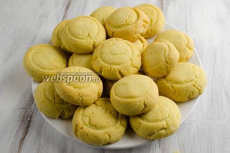 Выложить печенье на блюдо. Подавать к чаю или кофе.