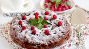 Фото рецепта Шоколадно-малиновый пирог