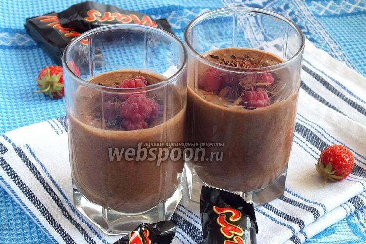 Фото Десерт из шоколадных батончиков
