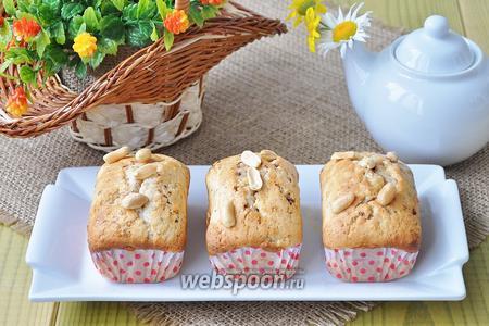 Маффины арахисовые с шоколадными конфетами