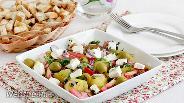 Фото рецепта Тёплый картофельный салат с брынзой