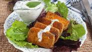 Фото рецепта Жареный тофу с базиликовым соусом