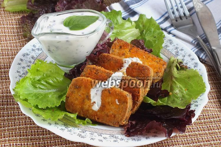 Фото Жареный тофу с базиликовым соусом