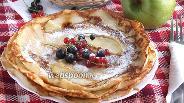 Фото рецепта Блинчики с яблочным припёком