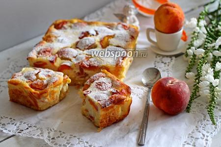Пирог с персиками и рикоттой