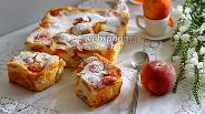 Фото рецепта Пирог с персиками и рикоттой