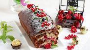Фото рецепта Шоколадно-смородиновый кекс