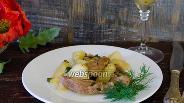 Фото рецепта Говядина, тушёная в мартини с овощами