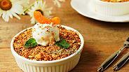 Фото рецепта Миндально-абрикосовый крамбл