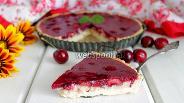 Фото рецепта Вишнёвый тарт с заварным кремом