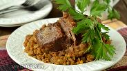Фото рецепта Баранина с машем, тушёные в мультиварке