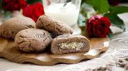 Фото рецепта Шоколадное печенье с кокосовой начинкой