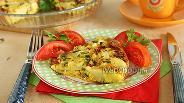 Фото рецепта Омлет в духовке с картошкой и сыром