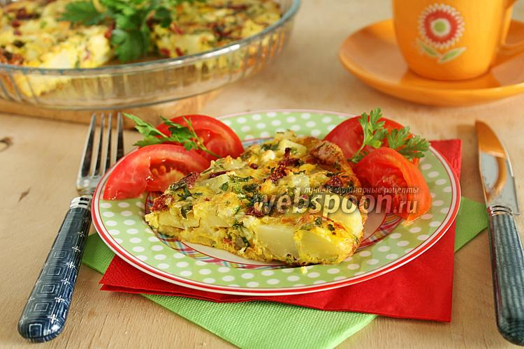 Фото Омлет в духовке с картошкой и сыром