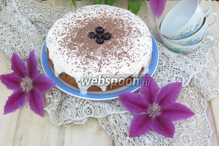 Фото Вишнёвый пирог в мультиварке