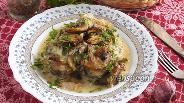 Фото рецепта Хек с грибами в сырном соусе