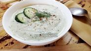 Фото рецепта Крем-суп из сельдерея с огурцом