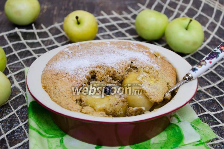 Фото Десерт с печёными яблоками