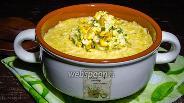 Фото рецепта Мексиканский суп из печёной кукурузы