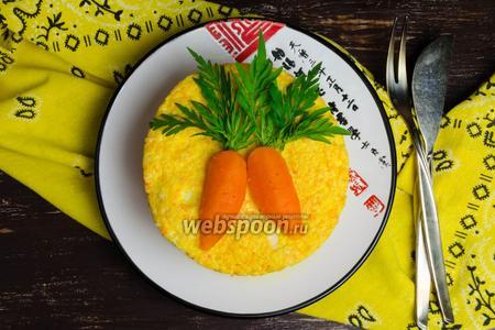 Суфле морковное с творогом на пару