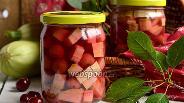 Фото рецепта Десертные кабачки с вишнёвым вкусом