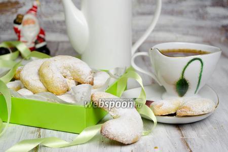 Венское ванильное печенье с орехами