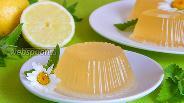 Фото рецепта Лимонно-имбирное желе
