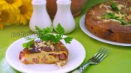 Фото рецепта Домашний пирог на кефире с бужениной