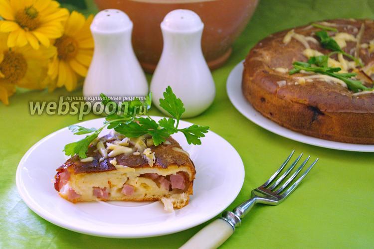 Фото Домашний пирог на кефире с бужениной