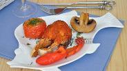 Фото рецепта Рыба гриль под соусом маринара с запечёнными овощами