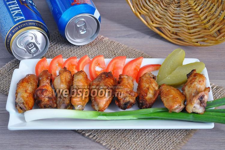 Фото Куриные крылышки BBQ в устричном соусе