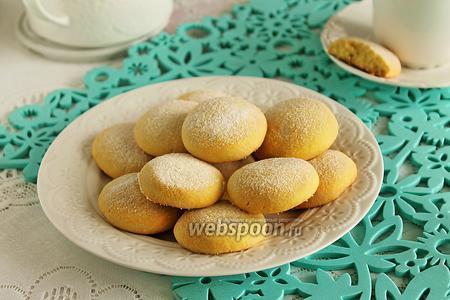 Фото рецепта Песочное печенье с кукурузной мукой