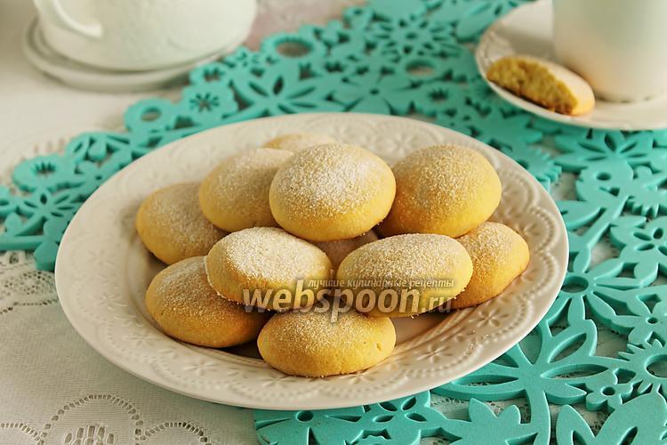 Фото Песочное печенье с кукурузной мукой