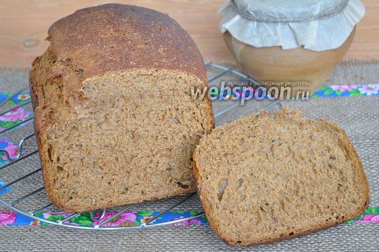 Фото Бородинский хлеб в хлебопечи