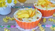 Фото рецепта Макаронник с персиками