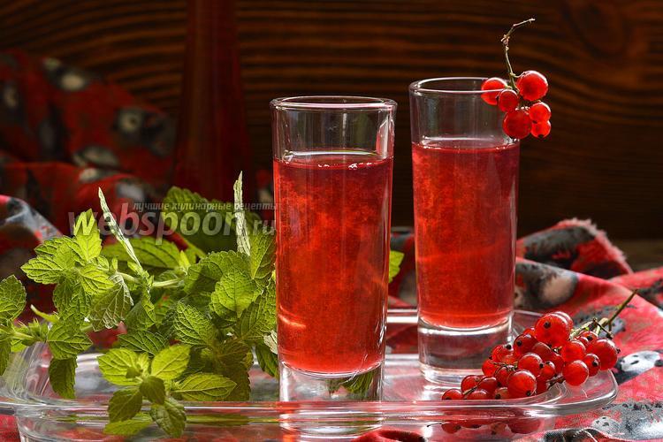 Фото Настойка на красной смородине