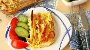 Фото рецепта Пирог-гармошка из лаваша