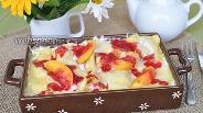 Фото рецепта Лазанья творожная с абрикосами