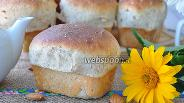 Фото рецепта Овсяный хлеб с миндалём