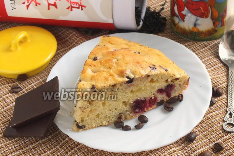 Фото Сметанник с ягодами и кофейным шоколадом