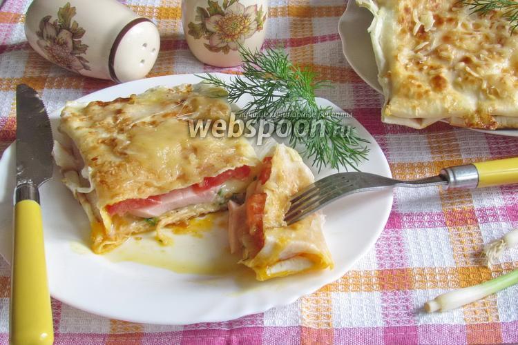 Фото Быстрый завтрак из лаваша