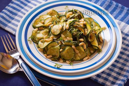 Фото рецепта Салат из молодых цукини