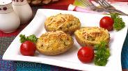 Фото рецепта Запечённый картофель фаршированный сыром