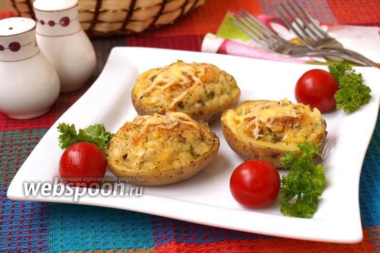 Фото Запечённый картофель фаршированный сыром
