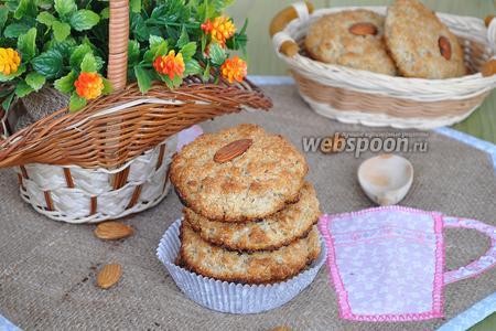 Печенье из овсяных хлопьев, миндальной муки и кокосовой стружки