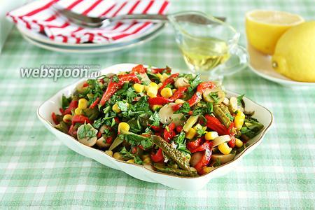 Пёстрый салат с маринованными овощами